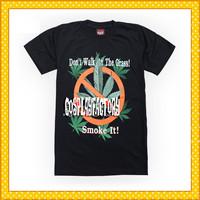 Free Shipping O-Neck Smoke It Plus Size 3D Cotton Tshirt,0.6kg/pc