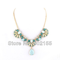 New Arrival Bohemia Style Imitation Gemstone Sweet Statement Choker Necklace for Women