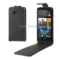 Pure Color High Quality Vertical Flip Leather Case for HTC Desire 600 (Black)