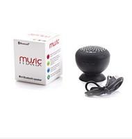 Retail mushroom Mini Bluetooth Speaker Passive Wireless Hands Waterproof Silicone Suction Wireless Speaker Freeshipping