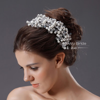 Free Shipping! Wholesale Handmade Crystal And Pearl Bridal Hair Accessories Wedding Hair Jewelry TH298