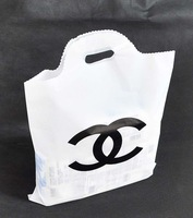 hand carry bags double C clothing shopping gift bags wholesale plastic pocket  50pcs/lot free shipping