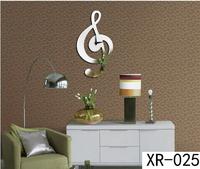 New modern design luxury 3D DIY Mirror clock Music silver symbol Wall Clocks home decoration mirror wall stickers xr025