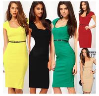 Fashion elegant 2014 slim one-piece dress casual dress 5 color #501