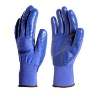 Itemship Zebra 13 needle half rubber oil resistant wear-resisting Work wear labor insurance gloves