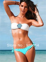 New 2014 Shinning Diamond Bikini Swimsuits Fashion Sexy Victoria Bikini Women Push Up Swimwear Bathing Suits Dropshipping