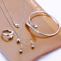 925 silver set-TSS197-lose Money Promotion 2014 New charm 925 silver drop set fashion jewelry set 925 silver jewelry set