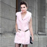 2014 fur coat rabbit fur vest fur vest rabbit fur Y5P2
