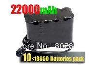 22000mAh 8.4v Li-ON 10x18650 Battery Pack For  Headlamp/ headlight /bicycle light /Bike Lamp Free Shipping