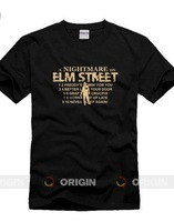 Nightmare on elm street Freddy Men's short sleeve T-shirt Pure cotton Round collar