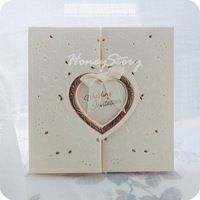 Embossed pure white fashion , portentously wedding invitations wedding invitation  Free shipping