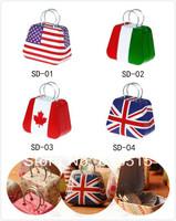 coin storage mini kids handbag kawaii money box candy bins flag storages free shipping gift for children creative purse