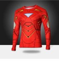 Hot Sale Marvel t Shirt 2014 New Fashion Iron man Heroes Shirt Men's Clothing Sport Jersey Breathable Long Sleeve Shirt Hot
