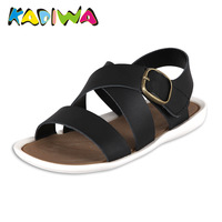 2014 genuine leather child sandals male child sandals open toe 120 children shoes q129
