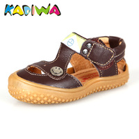 2014 genuine leather children shoes children male female child child sandals q007