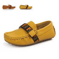 2014 spring and autumn male child gommini loafers casual shoes single children shoes child leather q161
