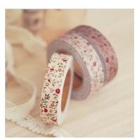 Handmade DIY photo album accessories cotton cloth tape cloth Korea stationery lovely floral diary decorative stickers