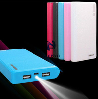 Real 10400Mah Power bank external battery pack Mobile power supply charger With 2 USB interface for Samart phone Tablet PC Mp5