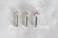 Free shiping 1/pc  2014 New  Body piercing jewelry earrings ear stud CZ Labret lip piercing jewelry C0288