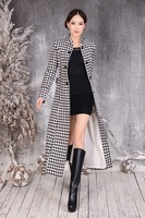 Fashion temperament in the spring of 2014 brand new cashmere coat female han edition cloth coat super long plover coat