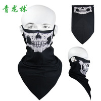 Anti-uv outdoor windproof face mask skull face mask ride