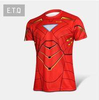 Hot Sale Marvel t Shirt 2014 New Fashion Iron man Heroes t Shirt Men's Clothing Sport Jersey Breathable Short Sleeve Shirt 002