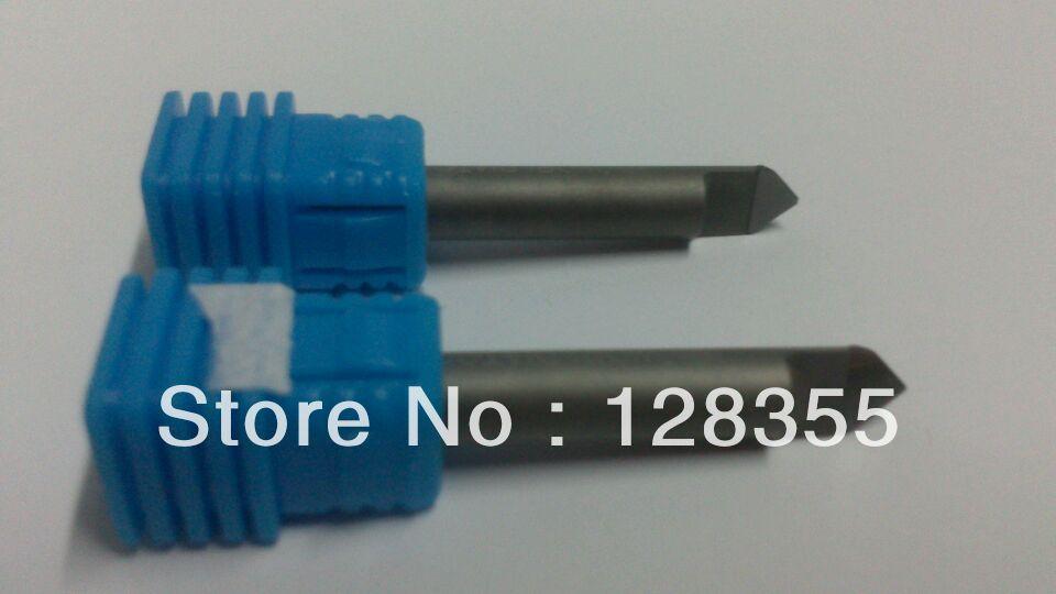 2PCSx 6mm 45 Degree 0.6MM PCD Marble Granite CNC Hi Quality Diamond Engraving Bit Router Bit(China (Mainland))