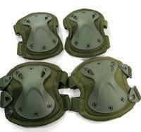 Free shipping Tactical X-tak Pad, knee pads & elbow pads set,EVA,TPU,1000Dnylon, Lycra CoolMax, 5 colors optional