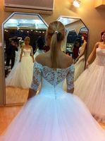 New Model Designer Half Sleeve Princess Wedding Dress Customer Order