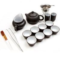 Aales Promotion! Ice Crack Complete Set Of Ceramic Tea Set Teapot Yixing Kung Fu Tea Set China Violet Arenaceous Gongfu Cha Ju