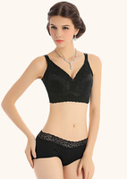 Top Brand Intimates Push Up Adjustable Sexy Embroidery Ladies Underwear Large Size C D E F G Cup Cotton Bra & Brief Set T102