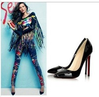 New 2014 women high hees shoes sexy ladies fashion pumps pointed toe night inn wear