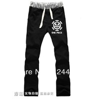 Free Shipping 2014 NEW Style One piece Trafalgar Law Cosplay Trousers Slacks sport pants Anime peripheral