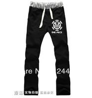 Free Shipping 2014 NEW Style One piece Trafalgar Law Cosplay Trousers Slacks sport pants Anime peripheral