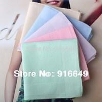 100% cotton women Hanky/Handkerchief, five colors, plain handkerchief, free shipping