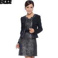 Spring 2014 small elegant one-piece dress ol slim one-piece dress set j2140