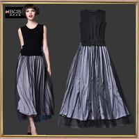 Fashion autumn full dress knitted yarn small design long one-piece dress full dress basic full dress