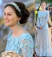 2014 Luxurious Long Sleeves Gossip Girl Blair and Chack Elie Saab Wedding Dresses