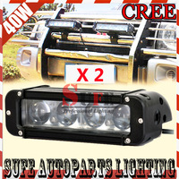 FREE DHL SHIPPING NEW 2PCS 8 INCH 40W CREE LED LIGHT BAR FOR OFF ROAD LIGHT BAR FLOOD SPOT LED DRIVING LIGHT LED BAR LIGHT