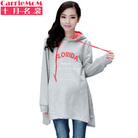 Maternity clothing spring and autumn maternity casual outerwear top maternity sweatshirt long design top