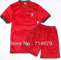 Portugal RONALDO Jerseys 2014 Brazil World Cup portugal home Red soccer jerseys football Thai jersey camiseta de futbol Uniform