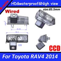 Reverse rear Car Backup Camera For Toyota RAV4 2014 reversing camera CCD HD night version