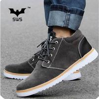 Hot sale the new 2014 brasnd-SWS round matte Paper men platform sneakers 40-44 free shopping