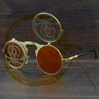 Punk Retro Sunglasses Reflective  Personalized  Metal Frame Sun Glasses Influx 882