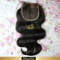 "Queen Love hair,Virgin hair Peruvian body wave Lace Top Closure(4""*4"") DHL 3-5days arrived,120% density, human hair,"