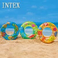 Intex swimming ring - 59242 transparent floating ring bunts all circle swim ring