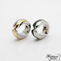 Earrings curviplanar male titanium clip female vintage no pierced clip earring invisible earrings