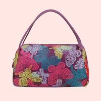 Free shipping new fashion high quality Purple-Butterfly Waterproof Nylon storage bags clutch bag Mini ladies Practical handbags