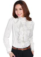 2014 Free shipping new arrival Royal elegant long-sleeve stand collar lace female shirt 40/nrj/c13/1310 women blouses