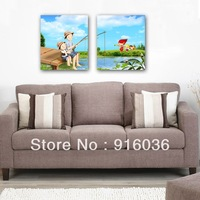 2 Panels Wall Hanging Huge Modern Paint Living Room Combination Decorative Picture Print Oil Painting Art Canvas pt687